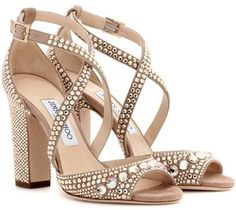 6610411ff0c Jimmy Choo Carrie 100 glitter-embellished leather sandals Beige Shoes