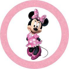 Minnie Mouse: toppers o etiquetas para imprimir gratis.