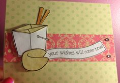 Lawn fawn good fortune stamps.  Love this stamp set.  A card I made