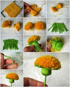 Craft Some Amazing Yarn Dandelions for Your Home