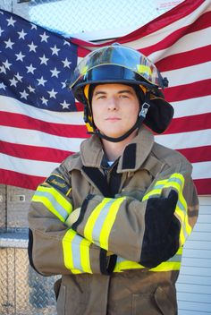 Firefighter photography senior picture idea for guys