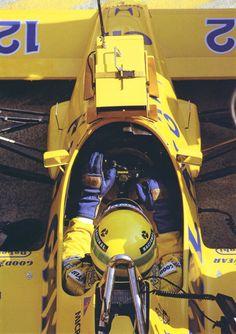 Ayrton Senna in his Lotus