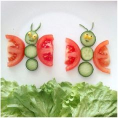 5 Creative And Easy DIY Food Decoration Ideas (food art) Food Crafts, Diy Food, Kids Crafts, Toddler Meals, Kids Meals, Cute Food, Good Food, Kreative Snacks, Food Art For Kids
