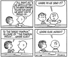 So cute... Great Pumpkin Charlie Brown, It's The Great Pumpkin, Charlie Brown Peanuts, Linus Van Pelt, Lucy Van Pelt, Peanuts Halloween, Halloween 1, Peanuts Cartoon, Peanuts Snoopy