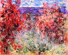 Flowering Trees near the Coast - Claude Monet
