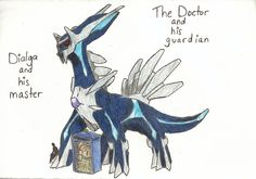 The Doctor and Dialga by theDoctorWhoFlygon10 on deviantART...Doctor Who .. :)... http://www.pinterest.com/cwsf2010/doctor-who