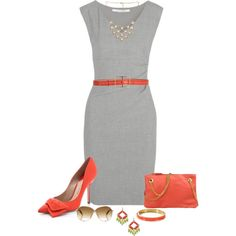 """""""CORAL/GRAY/LIME"""" by mcsp on Polyvore"""