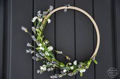 Today I'm sharing the craft for this simple spring hoop wreath- this is such an easy craft to get your home ready for spring!