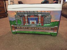 Bryant Denny stadium Alabama painted cooler