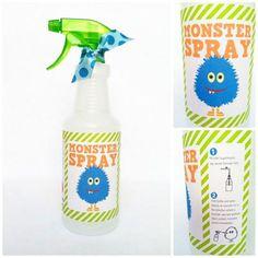 spray anti-monstres  Étiquette à imprimer