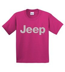 All Things Jeep Youth T-Shirt with Light Gray Jeep Logo