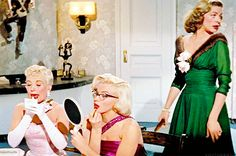 """vintagegal: """" Betty Grable, Marilyn Monroe and Lauren Bacall in How to Marry a Millionaire (1953) """""""