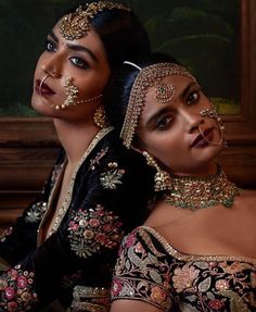 Exquisite Naths handcrafted by Kishandas & Co. for Sabyasachi's celebrated Firdaus collection from his Indian Couture 2016 Indian Bridal Fashion, Indian Bridal Wear, Indian Dresses, Indian Outfits, Indian Clothes, Moda Indiana, Indian Couture, Brown Girl, Indian Attire