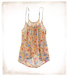 Aerie open back cami ♥ this is so adorable! I love the colors! It would be cute with white shorts :)