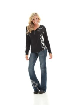 Cowgirl Tuff Co. Midnight Bling Jeans