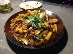 Super Spicy & Delicious Korean Seafood tteokbokki in Yanji, China^^