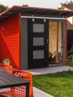 Essential Garden Shed Backyard Storage Sheds, Backyard Sheds, Shed Storage, Backyard Office, Backyard Studio, Backyard Projects, Cool Sheds, Small Sheds, Shed Design