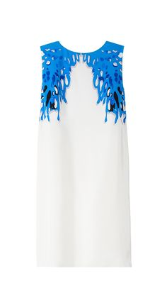 Coral Sleeveless Dress- Tibi