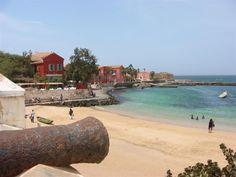 SENEGAL: scenic, small beach on Gorée Island.