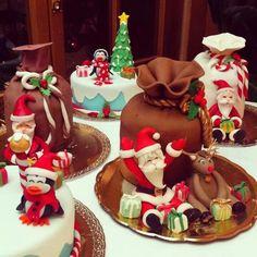 Decoracion navideña para tortas y pan de pascua
