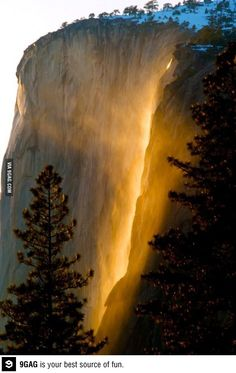 Beautiful horsetail falls, Yosemite national park