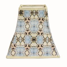 Bell fabric lampshade handmade 4.5x8x8.5 H. blue by Gingerartlamps, $65.00