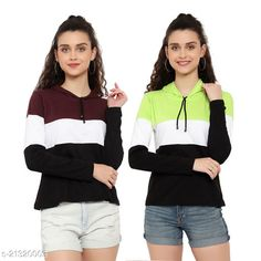 Checkout this latest Tshirts Product Name: *Stylish Elegant Women Tshirts * Fabric: Cotton Sleeve Length: Long Sleeves Pattern: Colorblocked Multipack: 2 Sizes: S, M, L, XL Country of Origin: India Easy Returns Available In Case Of Any Issue   Catalog Rating: ★3.9 (1383)  Catalog Name: Classy Elegant Women Tshirts CatalogID_4496130 C79-SC1021 Code: 183-21320003-999