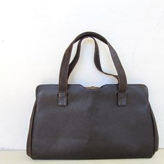 classic brown leather vintage kelly bag  @JennyandPearl, $32.00