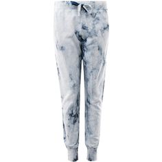 Current/Elliott Navy Tie-Dye Sweat Pants ($330) ❤ liked on Polyvore featuring activewear, activewear pants, slim sweatpants, sweat pants, cotton sweatpants, navy sweatpants and tie dye sweatpants