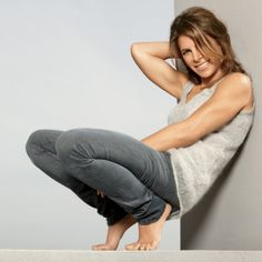 Jillian Michaels. I love her so much...but I can really hate her sometimes too :P (my thighs are still screaming!)