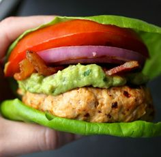 chipotle turkey burger with guac