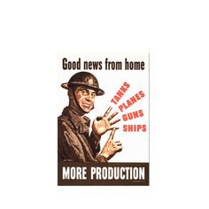 Replica of old war propaganda poster from 2. worldwar, with the text: Good news from home - WWII - wall art poster - old war poster by OldMapsGraphicStuff on Etsy