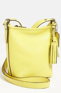 Coach Lemon Yellow Legacy Leather Mini Duffle « Clothing Impulse