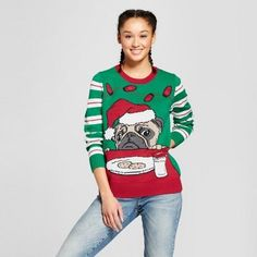 Ugly Christmas Sweater Women's Lightup Pug and Cookie Sweater - Ugly Christmas Sweater Green. Christmas sweater fashions. I'm an affiliate marketer. When you click on a link or buy from the retailer, I earn a commission.