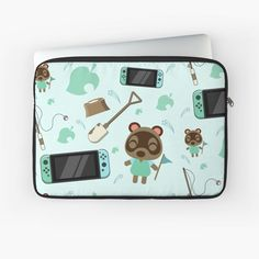 Macbook Air Pro, Laptop Case, Nintendo Consoles, Animal Crossing, Laptop Sleeves, Nintendo Switch, Cases, Printed, Awesome