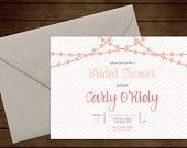 Printable Floral Garland Bridal Wedding Shower Invitation-Print Yourself-Digital Invite