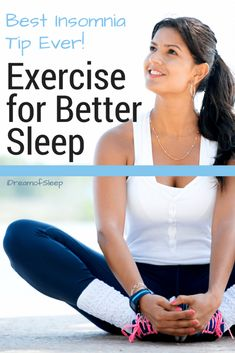 I'm always on the lookout for simple natural sleep remedies. I have to say that using exercise for better sleep was not at the top of my insomnia tips list. I can honestly say that after starting a regular fitness routine it really helped me fall asleep f Benefits Of Sleep, Benefits Of Exercise, Do Exercise, Health Benefits, Health Tips, Insomnia Help, Insomnia Remedies, Natural Remedies For Insomnia, Natural Cures