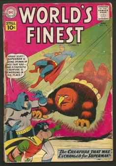 World's Finest #118 Superman Batman 1961 First Print DC COMICS 1st series