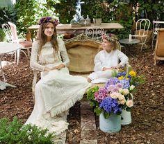 Coronas de flores naturales para novia y niñas de arras