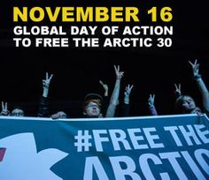 Global day of action November 16 for the Arctic 30