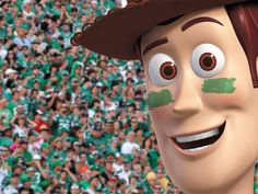 World famous Disney character Woody, is a Saskatchewan Roughrider Fan! Saskatchewan Roughriders, Canadian Football, Saskatchewan Canada, Rough Riders, Football Stuff, World Famous, Sports Teams, Green Colors, Woody