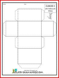 3 d shapes cuboid 2 tabs | Math | Pinterest | Math, 3d