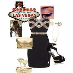 """Las Vegas - Golden Nugget Night Outfit"""