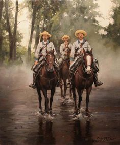 Bruma en Cuba, obra de Augusto Ferrer-Dalmau Historical Art, Historical Pictures, Army History, The Spanish American War, Apocalypse Art, Military Drawings, Rough Riders, Renaissance Art, Military Art