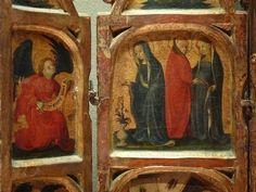 ALLEMAGNE,15e - Scènes de la Vie de la Vierge, l'Enfance du Christ - Détail 08 - Annunciation and Visit to Elisabeth -