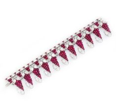 A Ruby Bead and Diamond Bracelet, by Viren Bhagat