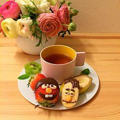 セサミストリート風 バナナマン♪ Bert and Ernie Bento Tea