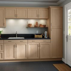 Shop our Kitchen Cabinets Department to customize your Easthaven Unfinished Base Cabinets today at The Home Depot. Wood Kitchen, Home Depot Kitchen, Kitchen Cabinets Home Depot, Kitchen Design, New Kitchen, Unfinished Kitchen Cabinets, Beech Kitchen Cabinets, Unfinished Cabinets, Kitchen Cabinets