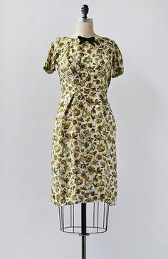March in London Dress / vintage 1960s cocktail dress / silk floral dress