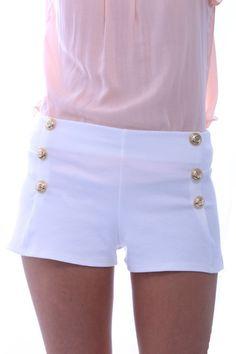 white sailor shorts